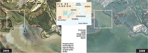 Sumiram com a ilha na Barra da Tijuca