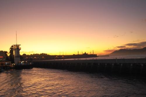 Pôr do sol no Pier 39, São Francisco