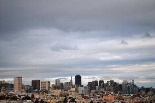 São Francisco, cidade grande e bege